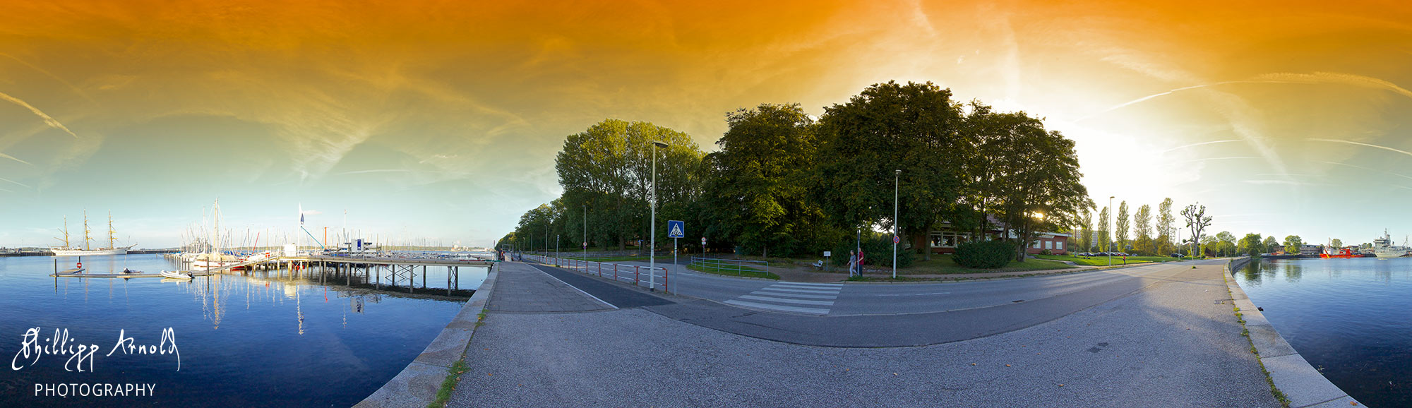 "Panorama ""Hafen in Kiel"""